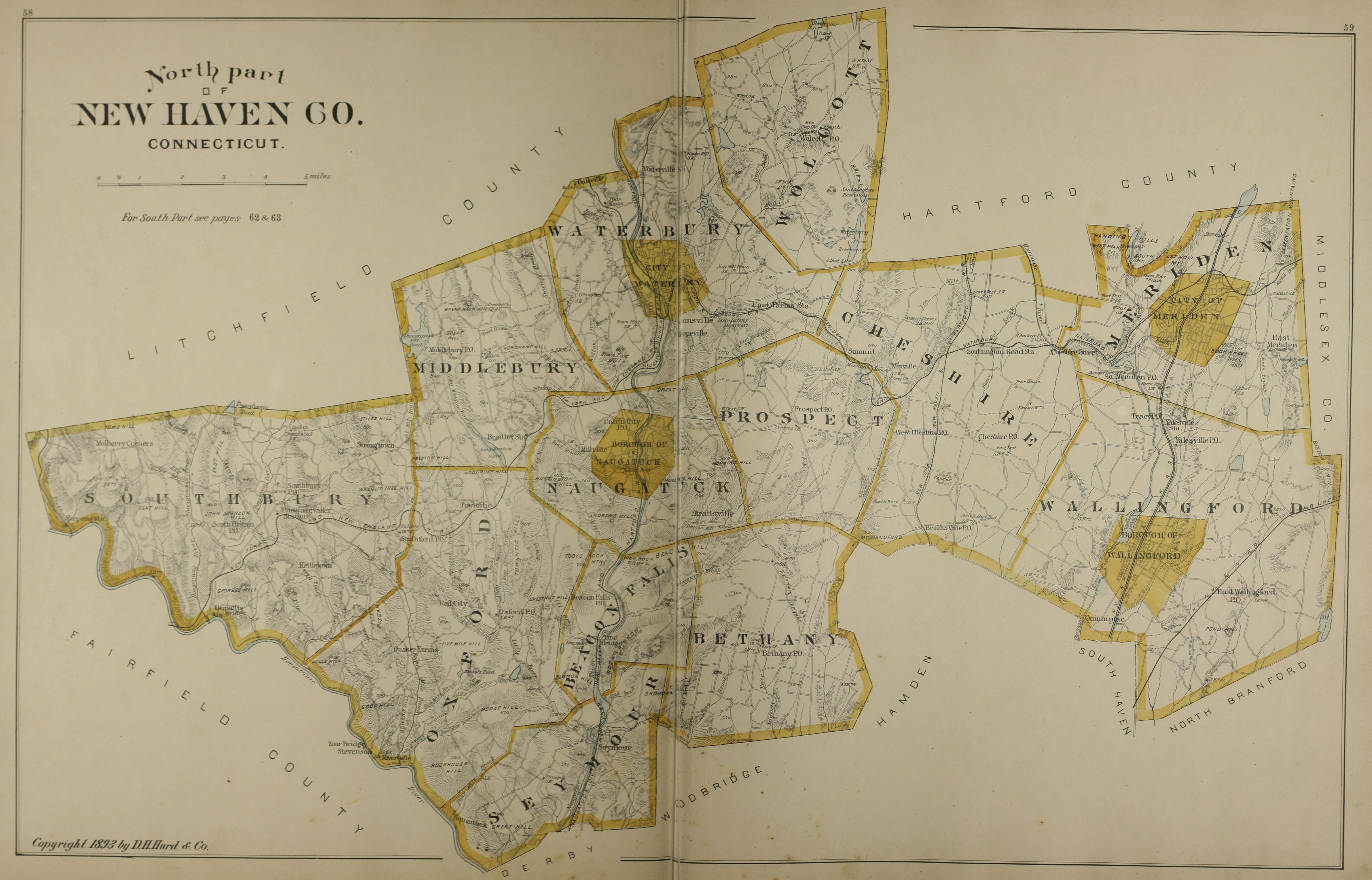 North Part of New Haven County, 1893