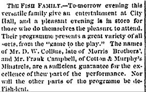 """The Fish Family."" Providence Evening Press, February 10, 1868."